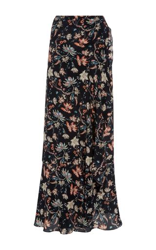 Medium adriana degreas floral printed wrap skirt