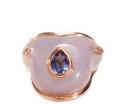 Medium fernando jorge purple fluid droplet on stone ring
