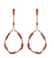 Medium fernando jorge red fluid rubies trapeze earrings