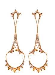 Medium fernando jorge orange electric drop earrings