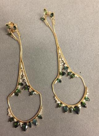 Medium fernando jorge green electric drop earrings 2