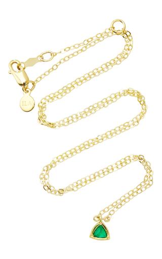 Medium ila collection green 14k yellow gold farrel emerald necklace