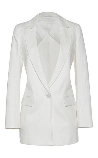 Medium barbara casasola white paulistana single breasted blazer