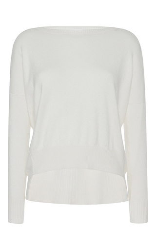 Medium barbara casasola white cashmere crew sweater