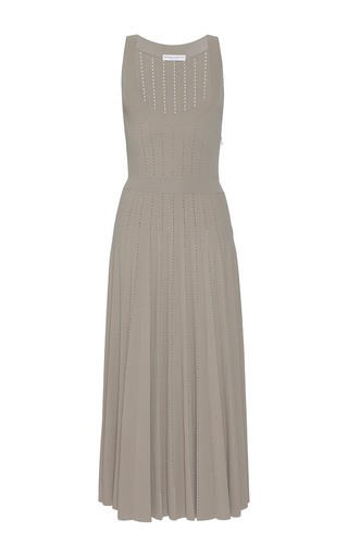 Medium barbara casasola light grey bahia sleeveless knit dress