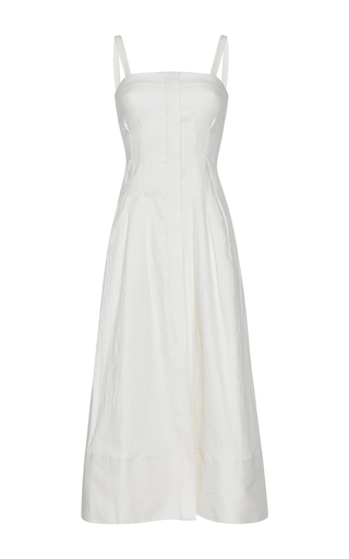 Medium barbara casasola white baiana strap dress