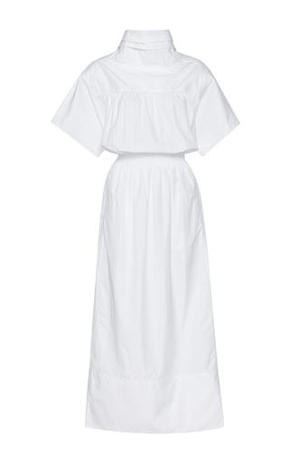 Medium barbara casasola white sea island cotton dress