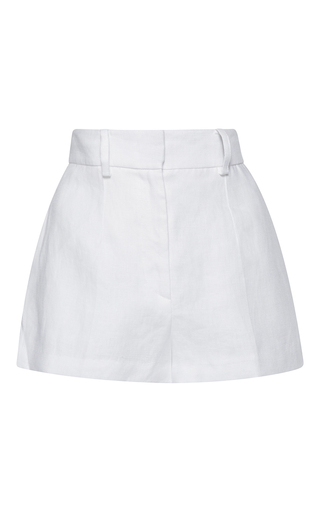 Medium barbara casasola white rio linen shorts