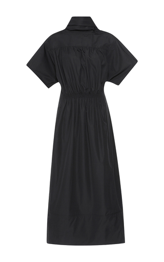 Medium barbara casasola black dry cotton dress