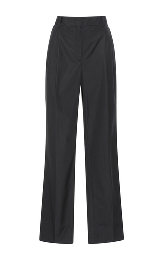 Medium barbara casasola black rio dry cotton trousers