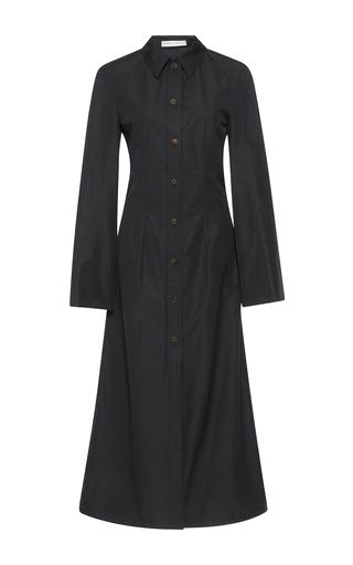 Medium barbara casasola black long sleeve coat dress