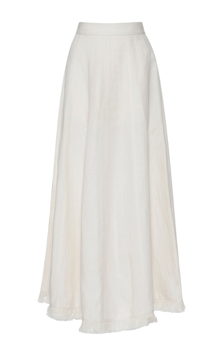 Medium barbara casasola white baiana linen skirt