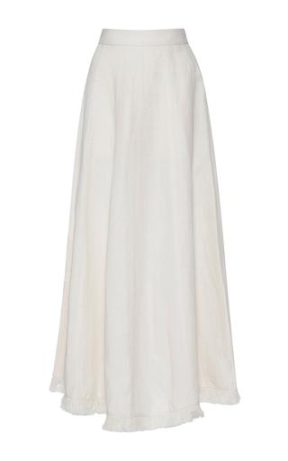 Medium barbara casasola white baiana linen skirt