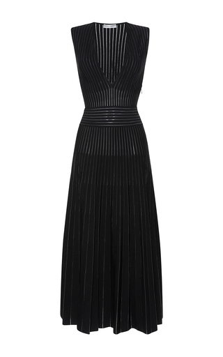 Medium barbara casasola black tribal v neck sleeveless knit dress
