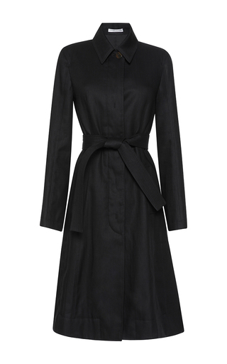 Medium barbara casasola black classic trench coat