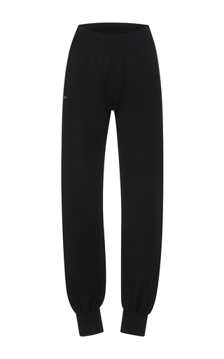 Medium barbara casasola black rio knit track pant