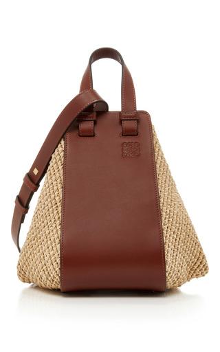 Medium loewe tan woven and leather tote