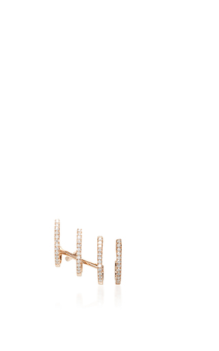 Medium messika rose gold multi creoles gatsby earrings
