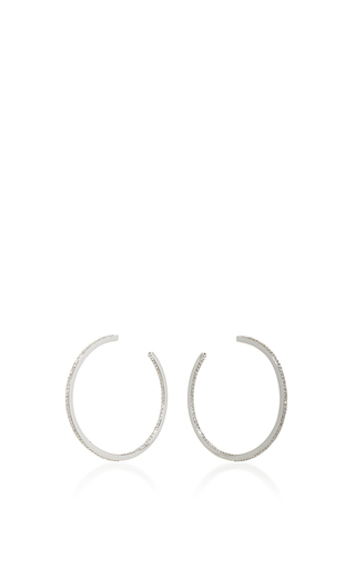 Medium messika silver creoles gatsby s earrings