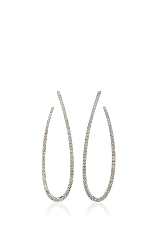 Medium messika silver gatsby ovales earrings
