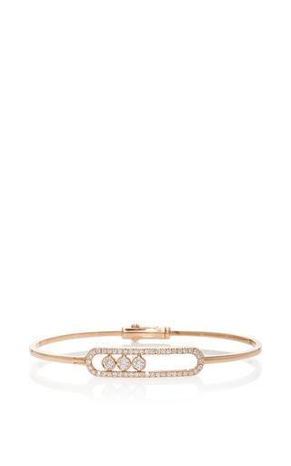 Medium messika rose gold jonc move pave bracelet
