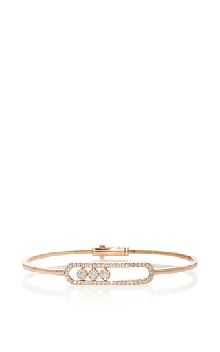 Medium messika rose gold jonc move pave bracelet