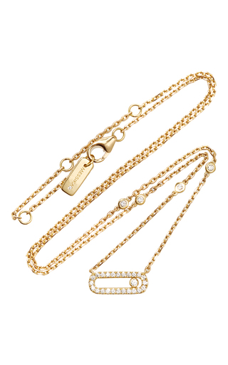 Medium messika gold move uno necklace