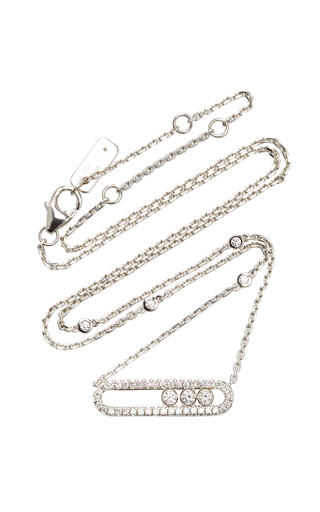 Medium messika silver baby move pave necklace
