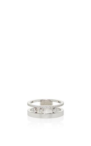 Medium messika silver move romane ring