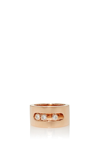 Medium messika rose gold move joaillerie mm ring