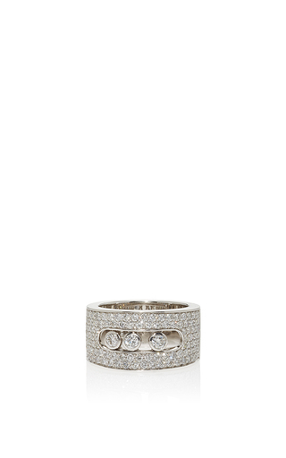 Medium messika silver move joaillerie pavee mm ring