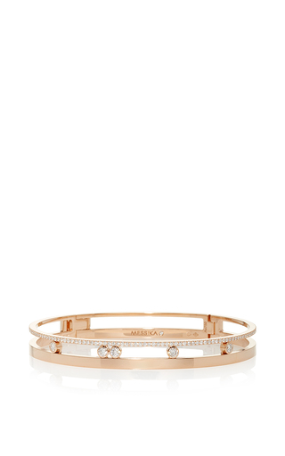 Medium messika rose gold move romane bangle