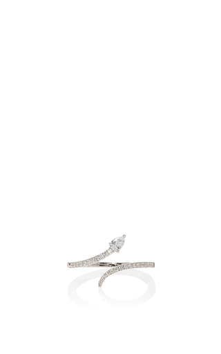 Medium messika silver snake skinny ring
