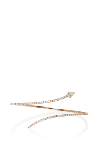 Medium messika rose gold snake skinny 1 row bracelet