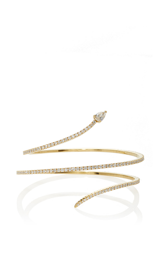 Medium messika gold snake skinny 2 rows bracelet