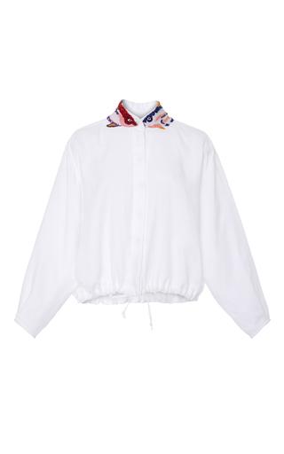 Medium tata naka white shirt with drawstrings and beaded applique
