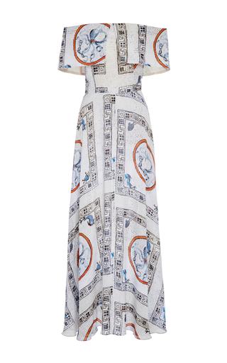 Medium tata naka print off the shoulder full length dress