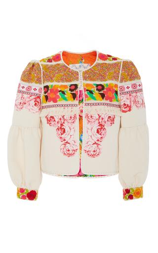 Medium alix of bohemia white pink bloom jacket