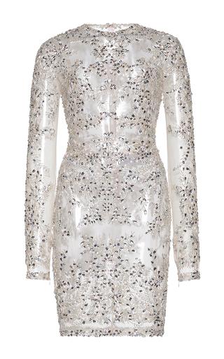 Medium zuhair murad metallic short jewelry embroidered tulle dress