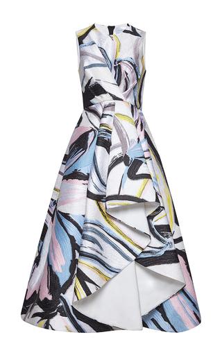 Medium zuhair murad print asymmetric length jacquard dress in abstract print