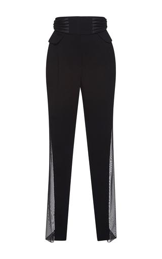 Medium zuhair murad multi high waist cady trousers with corsetry effect
