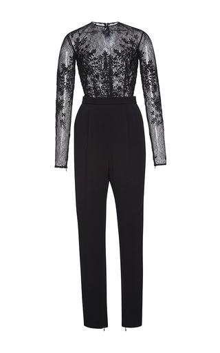 Medium zuhair murad black thread embroidered cady jumpsuit