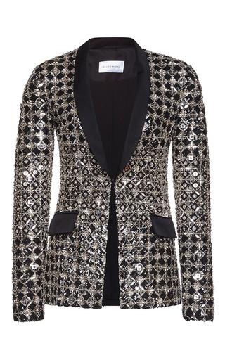 Medium zuhair murad metallic fully embroidered tulle jacket