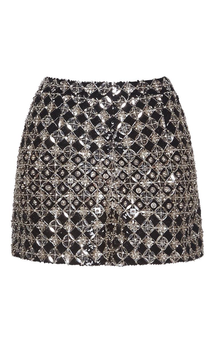 Fully Embroidered Shorts By Zuhair Murad Moda Operandi Millenia Olivia Abstract Dress