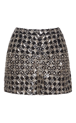 Medium zuhair murad metallic fully embroidered shorts