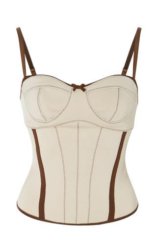 Medium loewe white stretch knit corset top