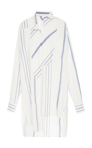 Medium loewe stripe striped cotton and linen blend shirt dress