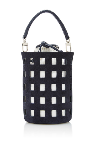 Medium hunting season navy cut out bucket bag