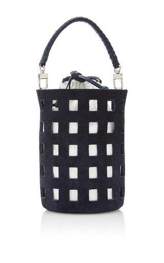 Medium hunting season navy cut out bucket bag