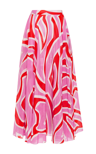 Medium emilio pucci print printed cotton and silk blend skirt